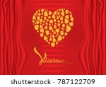 valentine's day theme on red...   Shutterstock .eps vector #787122709
