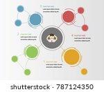 infographics template 4 options.... | Shutterstock .eps vector #787124350