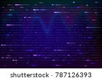 abstract background with binary ... | Shutterstock .eps vector #787126393