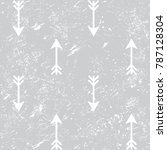 arrows grunge seamless vector... | Shutterstock .eps vector #787128304