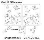 find ten differences  task for... | Shutterstock .eps vector #787129468