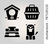 animals vector icon set. full... | Shutterstock .eps vector #787130110