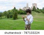 A Boy In Traditional Bavarian...