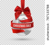 christmas sale  earth icon with ... | Shutterstock .eps vector #787133788