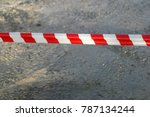 red and white  striped... | Shutterstock . vector #787134244