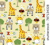 vector seamless pattern with... | Shutterstock .eps vector #787134328