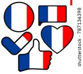 Flag Of France  In The Shape O...