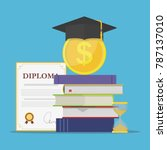 investment in education. stack... | Shutterstock .eps vector #787137010