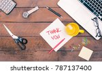 thank you message written on... | Shutterstock . vector #787137400