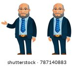 funny senior businessman in... | Shutterstock .eps vector #787140883