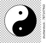 yin yang on transparent... | Shutterstock .eps vector #787147963