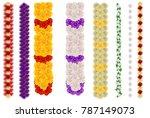vertical flower garland for... | Shutterstock .eps vector #787149073