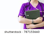 cropped image of nurse in... | Shutterstock . vector #787153660
