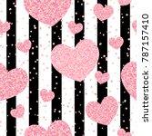 romantic rose gold glitter...   Shutterstock .eps vector #787157410