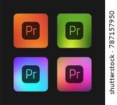 premiere four color gradient... | Shutterstock .eps vector #787157950