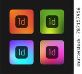indesign four color gradient... | Shutterstock .eps vector #787157956
