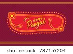 happy pongal banner background... | Shutterstock .eps vector #787159204