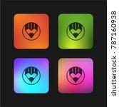 compose four color gradient app ...   Shutterstock .eps vector #787160938