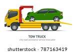 tow truck city road assistance... | Shutterstock . vector #787163419