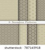 seamless pattern set in arabic... | Shutterstock .eps vector #787165918