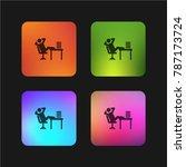 lazy four color gradient app...   Shutterstock .eps vector #787173724