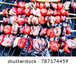 traditional madeira meat ... | Shutterstock . vector #787174459