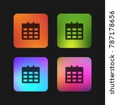 calendar four color gradient... | Shutterstock .eps vector #787178656