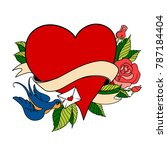 vector valentines day greeting... | Shutterstock .eps vector #787184404