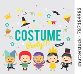 costume party background in... | Shutterstock .eps vector #787184983