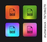 css file format symbol four... | Shutterstock .eps vector #787186270