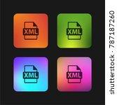 xml file format symbol four... | Shutterstock .eps vector #787187260
