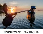 traditional fisher boat during... | Shutterstock . vector #787189648