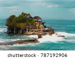 famous mystical tanah lot...   Shutterstock . vector #787192906