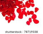 Stock photo red rose petals isolated on white valentine s day 78719338