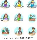 content  multicolor icon set | Shutterstock .eps vector #787195126