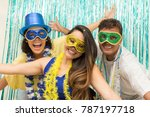 multi ethnic group of friends... | Shutterstock . vector #787197718