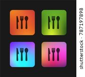 cutlery four color gradient app ... | Shutterstock .eps vector #787197898