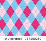pink and light blue argyle | Shutterstock .eps vector #787200250