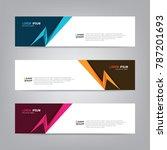 vector abstract banner design... | Shutterstock .eps vector #787201693