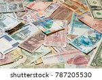 background from banknotes of... | Shutterstock . vector #787205530