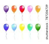 balloon set. vector... | Shutterstock .eps vector #787206739