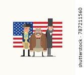 us president's day | Shutterstock .eps vector #787211560