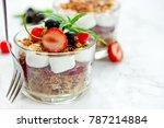 marshmallow chocolate dessert... | Shutterstock . vector #787214884