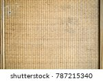 bamboo woven surface. a closed... | Shutterstock . vector #787215340