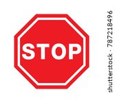 traffic signal symbol sign.... | Shutterstock .eps vector #787218496