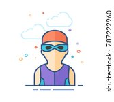 swimming athlete icon in...   Shutterstock .eps vector #787222960