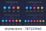 vector 4 5 6 7 options... | Shutterstock .eps vector #787223560