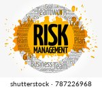 risk management circle word... | Shutterstock . vector #787226968