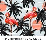 beautiful seamless vector... | Shutterstock .eps vector #787232878