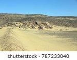 a desolate saudi desert scene | Shutterstock . vector #787233040